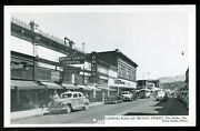 Vintage 1940's Taxi And Motor Coach Terminal Sign The Dalles Oregon Rppc Postcard