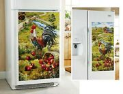 Thanksgiving Gift Farm Yard Rooster Country Refrigerator Huge Magnet Nwt X-large