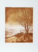 Hank Laventhol Dawn Tree Aquatint Etching Signed And Numbered In Pencil