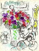 Marc Chagall Cover Frontispiece Les Anemones Lithograph