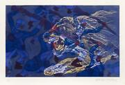Malcolm Morley, Soldiers And Tiger, Aquatint Etching, Signed And Numbered In Pen