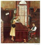Norman Rockwell Marriage License Poster