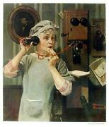 Norman Rockwell Party Line Poster