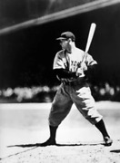 Unknown Artist, Lou Gehrig At Bat, Yankees, Reproduction Photograph
