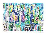 Amos Yaskil, Bottles, Lithograph, Signed And Numbered In Pencil