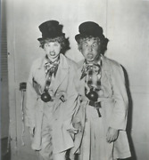 Unknown Artist Lucille Ball And Harpo Marx Reproduction Photograph