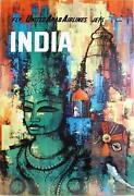 Travel Poster, India - United Arab Airlines, Poster