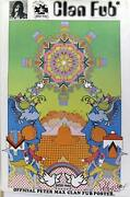 Peter Max Clan Fub Fan Club Poster Signed