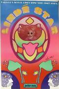 Peter Max Linde Star Poster With Ink Drawing Signed In Ink