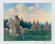 Rockwell Smith Chief Looking Glass Of The Nez Perce Lithograph Signed And Num