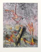 Roberto Matta Ma Chair Rie Aquatint Etching On Arches Paper Signed And Number