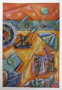 Graham Borough, Beach Design Ii, Lithograph, Signed And Numbered In Pencil