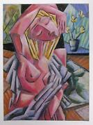 Graham Borough, Nude In Studio, Lithograph, Signed And Numbered In Pencil