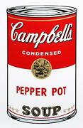 Andy Warhol Campbelland039s Soup Can Pepper Pot Screenprint Stamped Verso By Sund