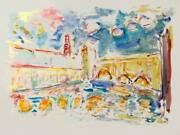 Wayne Ensrud Untitled - Canal Watercolor On Paper