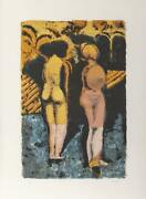 Armando Morales Mujeres En El Agua Lithograph Signed And Numbered In Pencil