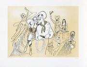 Al Hirschfeld Will Rogers Lithograph Signed And Numbered In Pencil