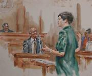 Marshall Goodman Courtroom 141 Watercolor On Paper