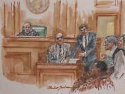 Marshall Goodman Courtroom 98 Watercolor On Paper Signed