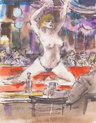 Marshall Goodman, Adam And Eve Topless Ii, Watercolor On Paper