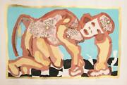 Roberto Juandaacuterez Bellhop Screenprint And Woodcut Signed And Numbered In Pencil
