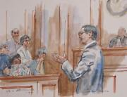 Marshall Goodman Us V. Abouhalima Watercolor On Paper Signed