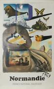 Salvador Dalí, Normandie French National Railroad, Travel Poster