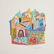 Henry Miller Jerusalem Lithograph Stamp Signed And Numbered In Pencil