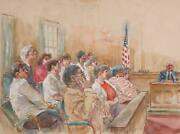 Marshall Goodman Courtroom 347 Watercolor On Paper