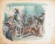 Marshall Goodman Sword Fight 390 Watercolor On Paper
