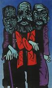 Kenneth Wilkinson The Vigil Woodcut In Colors Signed Dated And Numbered Vers