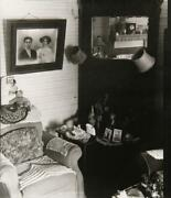 Unknown Artist Living Room Chair And Mantel Gelatin Silver Print Signed On Re