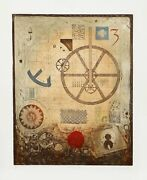 M.j. Wells Divisions Ii Aquatint Etching Signed And Numbered In Pencil