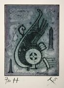 Tighe Oand039donoghue Ariel Etching With Aquatint Signed In Pencil