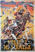 Mimmo Rotella Top Gun Screenprint With Collage Signed In Pencil L.r.