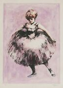 Philippe Alfieri, La Belle 1, Hand-colored Etching, Signed In Pencil