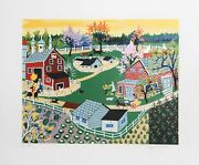 Kay Ameche Eisenhower Farm At Gettysburg Screenprint Signed And Numbered In P