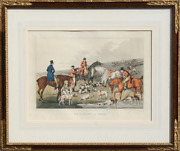 Henry Thomas Alken Fox Hunting The Death Hand Colored Etching
