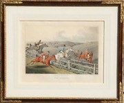 Henry Thomas Alken, Fox Hunting, Hand Colored Etching