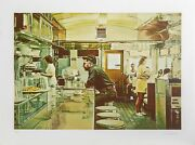 Ralph Goings Unadilla Diner Screenprint Signed And Numbered In Pencil