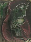 Marc Chagall Job Disconsolate From Drawings For The Bible Lithograph