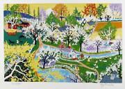 Kay Ameche Apple Blossom Glory Screenprint Signed And Numbered In Pencil