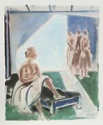 Joseph Floch Dancer In Repose Lithograph Signed And Numbered In Pencil