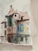 Eve Nethercott, Maine House 33, Watercolor On Paper