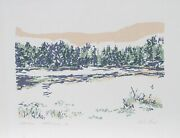 Charlene Stant Engel, Lake Grove, Screenprint, Signed And Numbered In Pencil