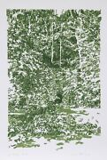 Charlene Stant Engel, The Grotto, Screenprint, Signed And Numbered In Pencil