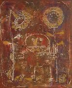 Al Robi The Prize Winner Oil And Mixed Media On Canvas Signed