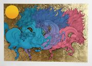 Guillaume Azoulay High Horses Screenprint Signed And Numbered In Pencil