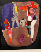 Richard Lindner First Avenue Lithograph Signed And Numbered In Pencil