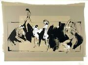 Gino Hollander Orgy Lithograph Signed And Numbered In Pencil